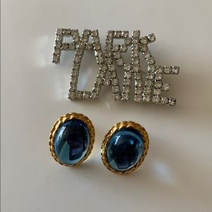 Vintage Park Lane Cabochon Earrings and Brooch